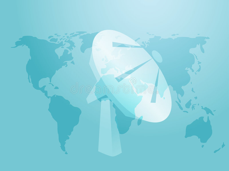 Antenne parabolique illustration de vecteur