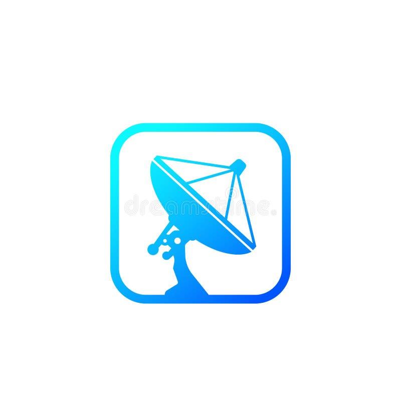 Antenne parabolique, icône d'antenne illustration libre de droits