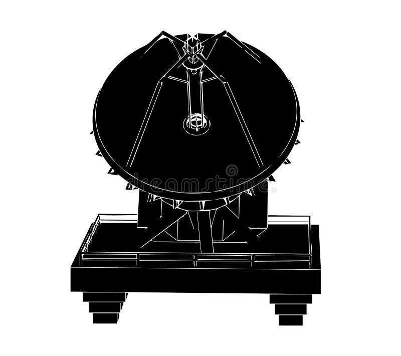 Antenne parabolique noire photo stock