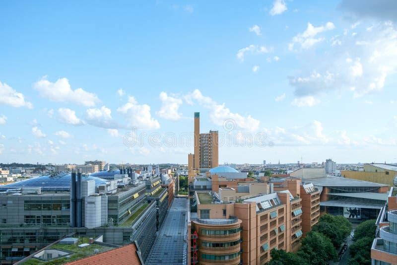 Antenne Potsdamer Platz lizenzfreies stockbild
