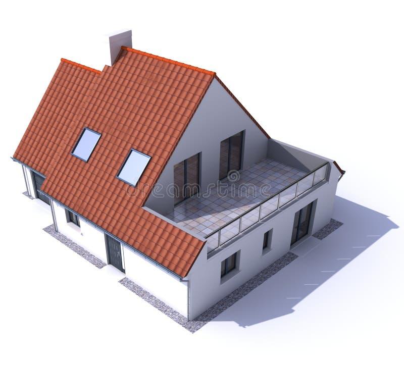 Antenne résidentielle modèle b d'architecture illustration de vecteur