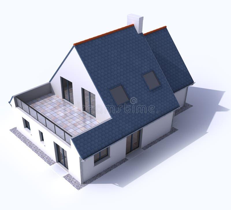 Antenne résidentielle modèle a d'architecture illustration libre de droits