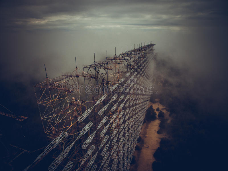 Antenne Tchernobyl royalty-vrije stock afbeeldingen
