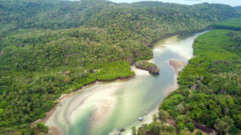 Antenne tropicale d'île photos libres de droits