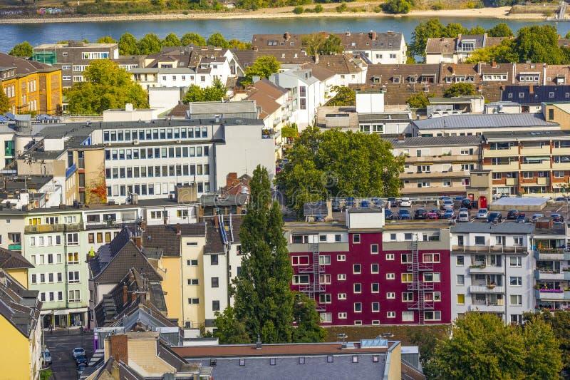 Antenne van Bonn, de vroegere hoofdstad van Duitsland royalty-vrije stock afbeelding