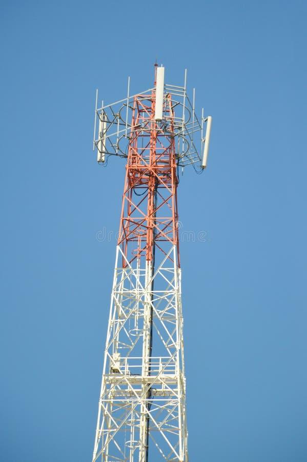Antenne van cellulaire mededeling stock fotografie
