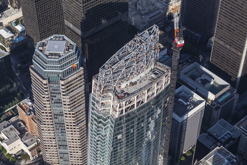 Antenne van de het Centrumbouw van Los Angeles Wilshire de Grote stock foto