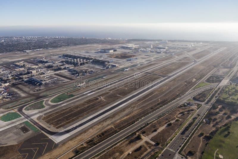 Antenne van de Luchthavenbanen van Los Angeles de Internationale stock foto's
