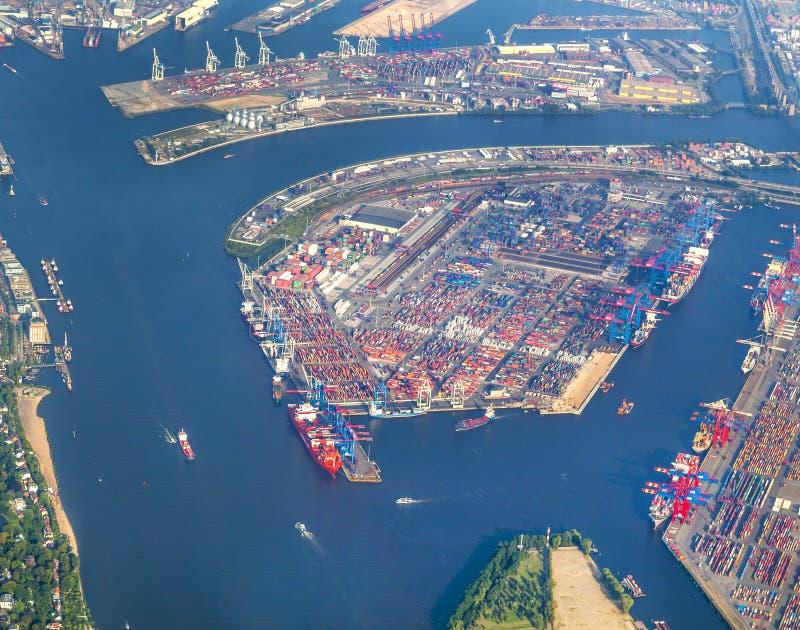 Antenne van Hamburg stock afbeeldingen