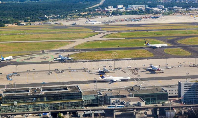 Antenne van luchthaven Frankfurt royalty-vrije stock afbeelding