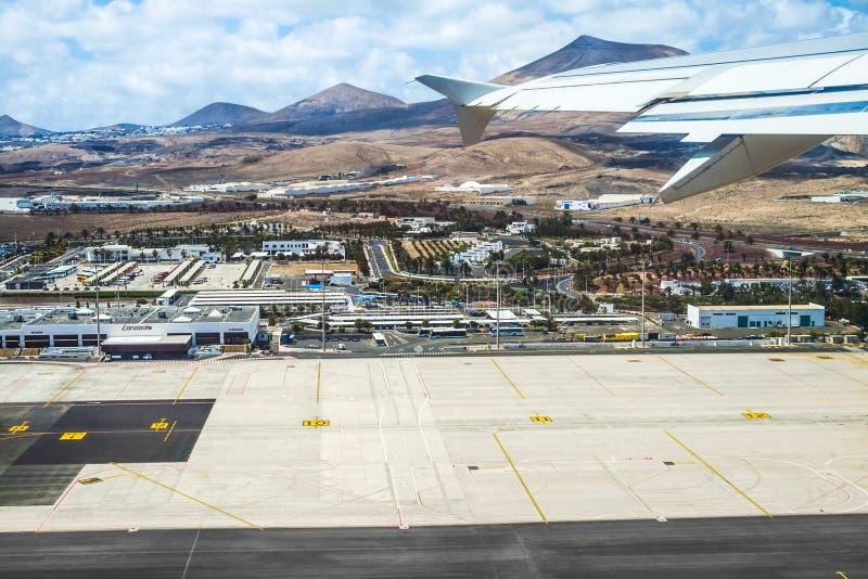 Antenne van luchthaven van Lanzarote stock afbeeldingen