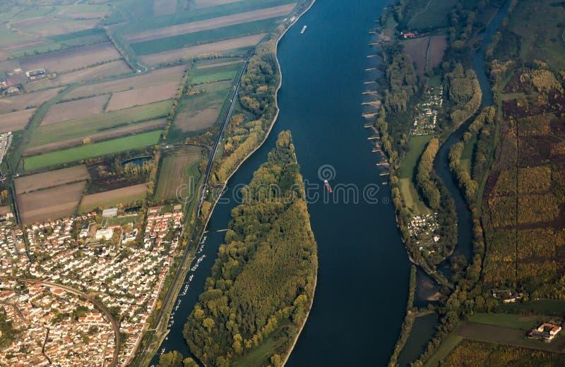 Antenne van Rijn royalty-vrije stock foto's