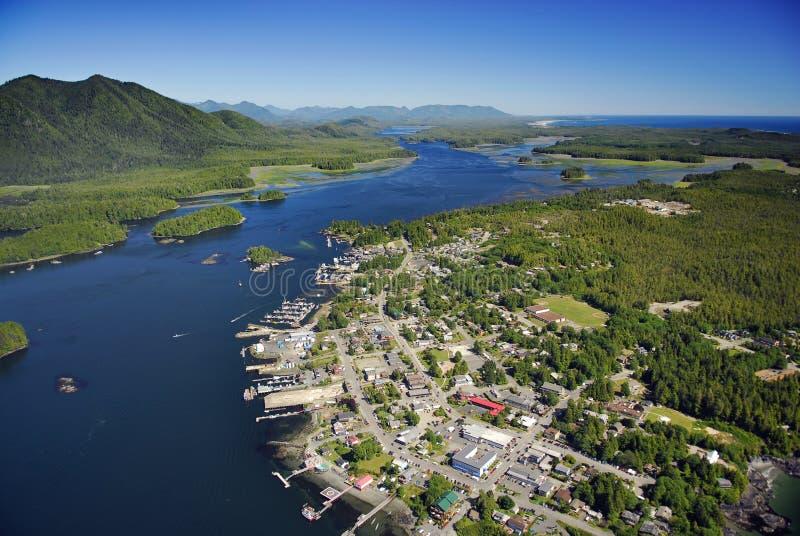 Antenne van Tofino, het Eiland van Vancouver, BC, Canada stock fotografie