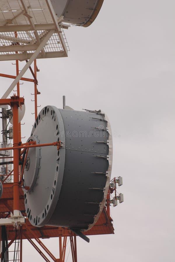 Antenne vast in de communicatie toren royalty-vrije stock foto