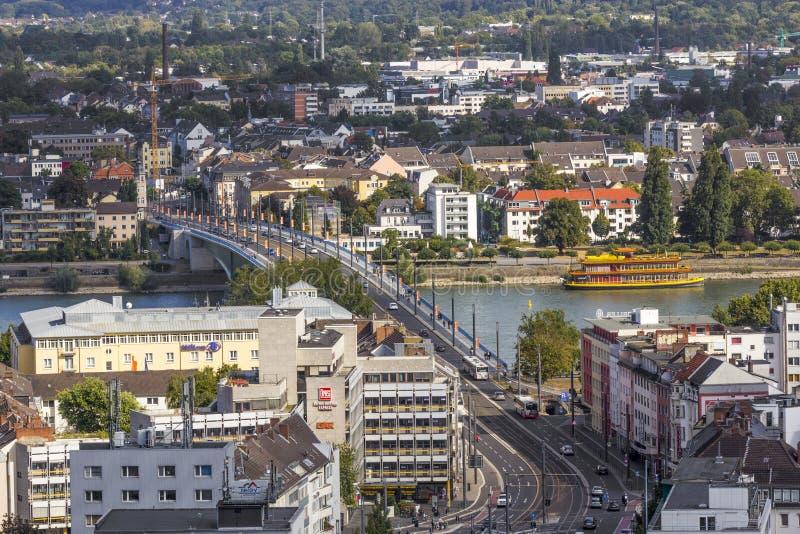 Antenne von Bonn, die ehemalige Hauptstadt von Deutschland lizenzfreies stockbild