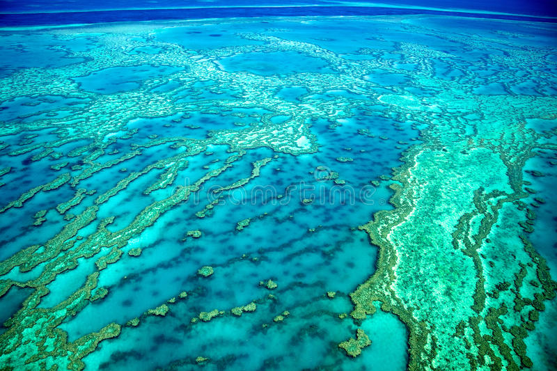 Antenne von Great Barrier Reef, Australien lizenzfreies stockbild