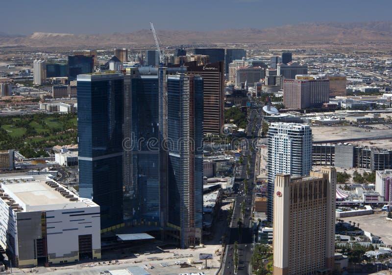 Antenne von Las Vegas Blvd lizenzfreies stockbild