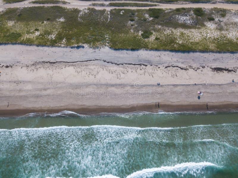 Antenne von Sandy Beach auf Cape Cod, MA stockbilder