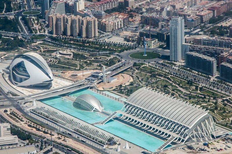 Antenne von Valencia lizenzfreies stockbild