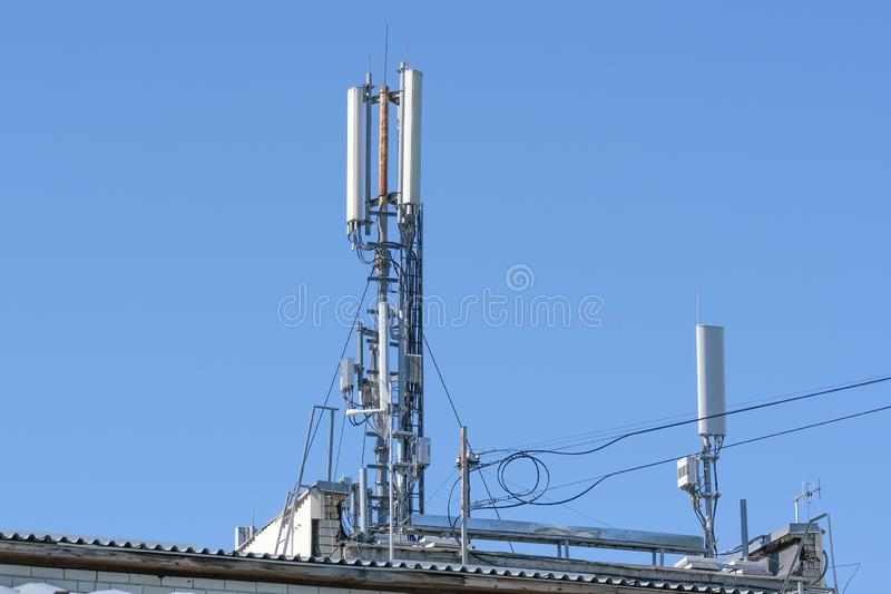 Antennemateriaal voor mobiele cellulaire telefonie stock foto's