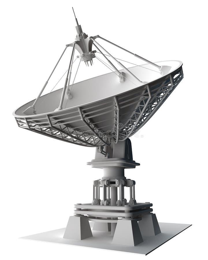 antennen besegrar den doppler radarsatelliten royaltyfri fotografi