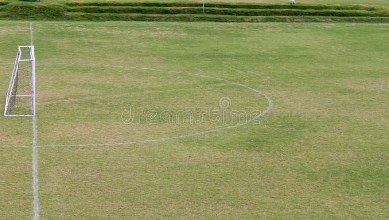 Beskåda av en fotboll sätter in fotografering för bildbyråer