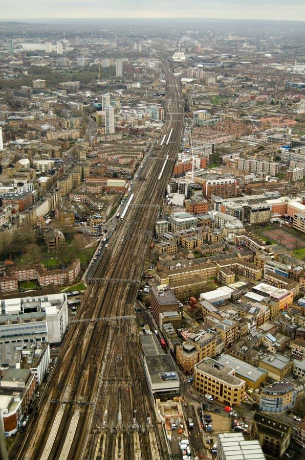 Antennen Beskådar Av Järnvägen, Södra London Arkivfoton