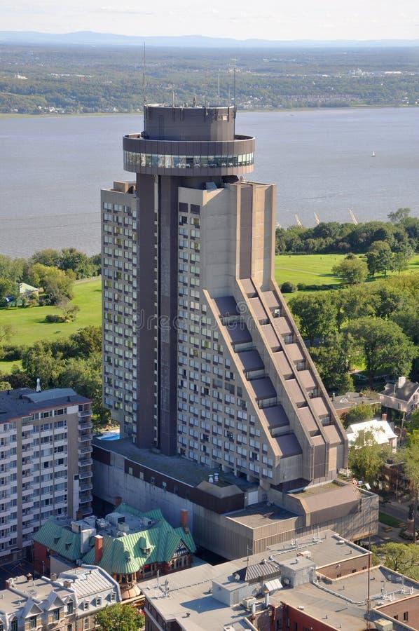 Quebec City Loews Hotell Le Concorde, Kanada arkivbild