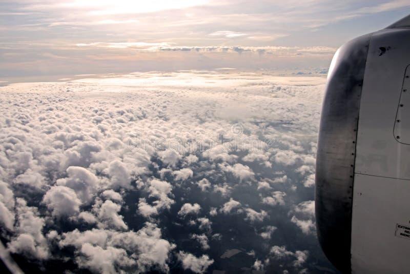antennen clouds fotografi royaltyfria foton