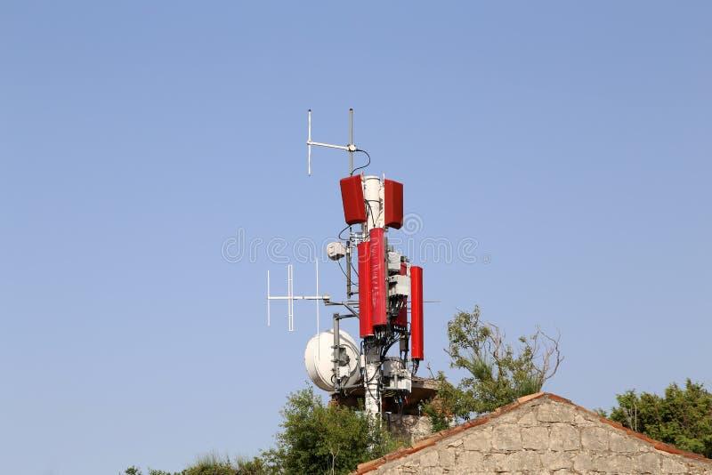 Antennensysteme für Telekommunikation stockfoto