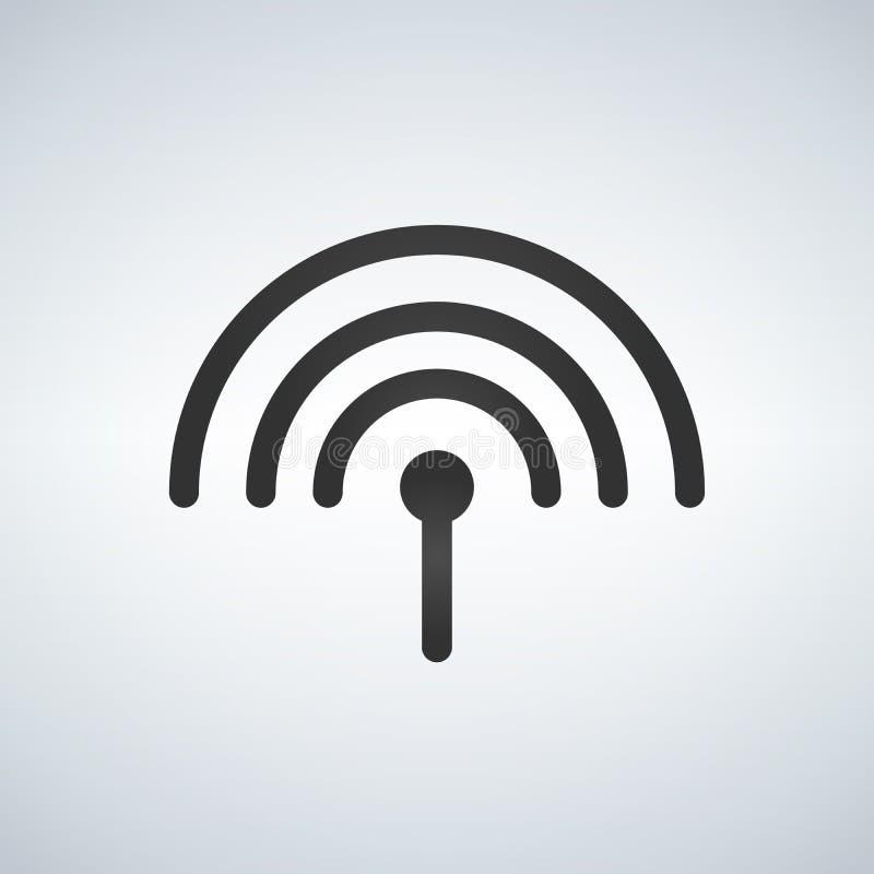 Antennepictogram, illustratie op Witte achtergrond wordt geïsoleerd die royalty-vrije illustratie