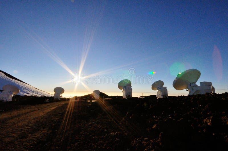 Antennes au-dessus de Mauna Kea photo stock