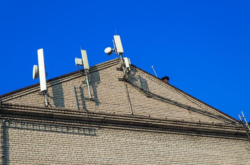Antennes cellulaire mededeling royalty-vrije stock afbeeldingen