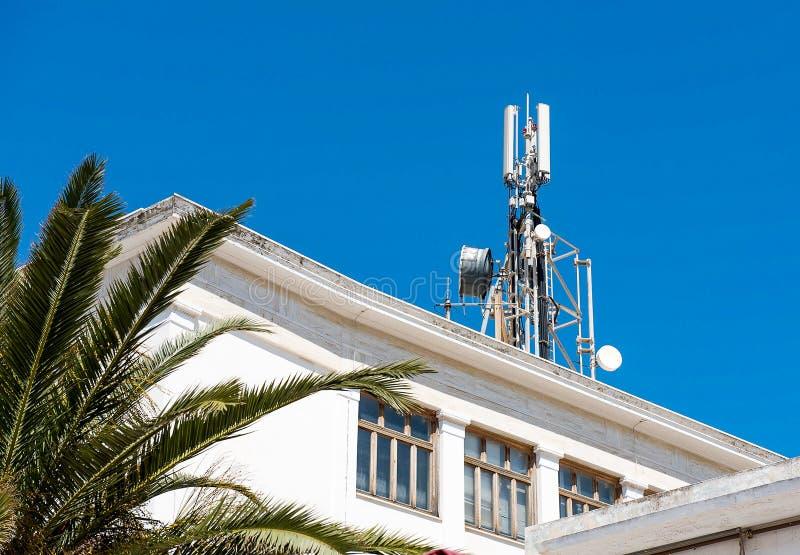 Antennes de télécommunication de téléphone portable photos libres de droits