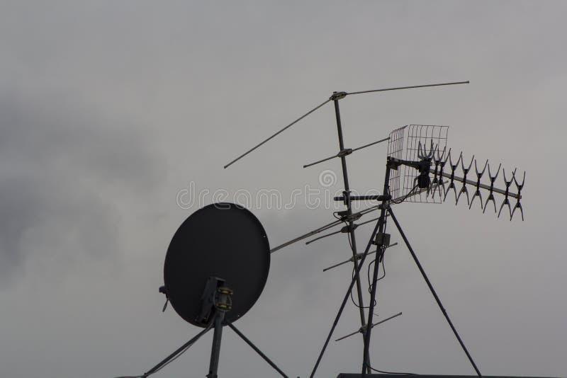 Antennes de TV photos stock
