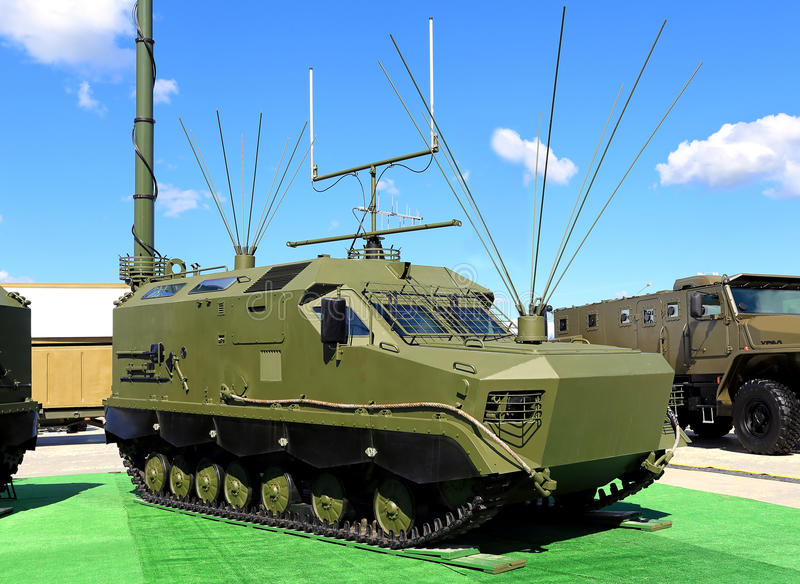 Antennes de véhicule militaire image stock