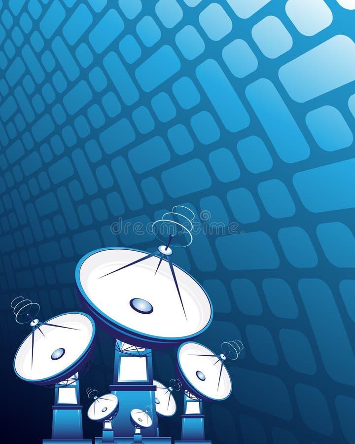 Antennes paraboliques illustration de vecteur