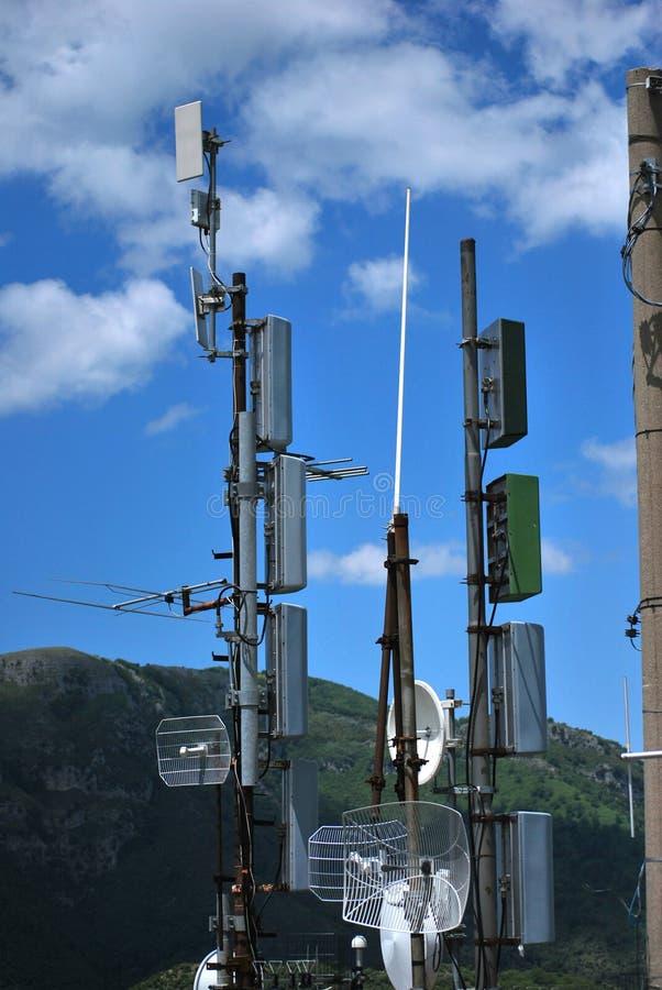 Antennes Radiosignalen stock foto's