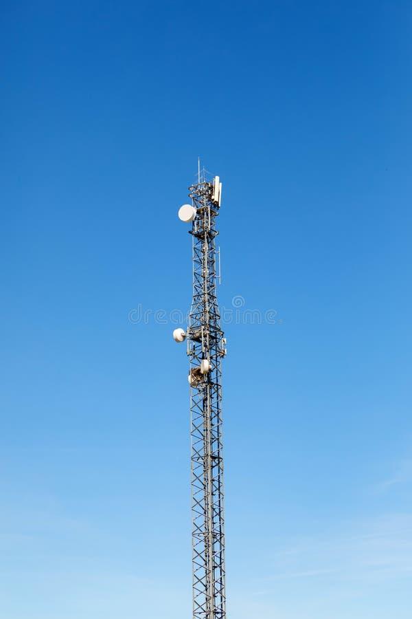 Antennetoren voor mededeling stock foto's