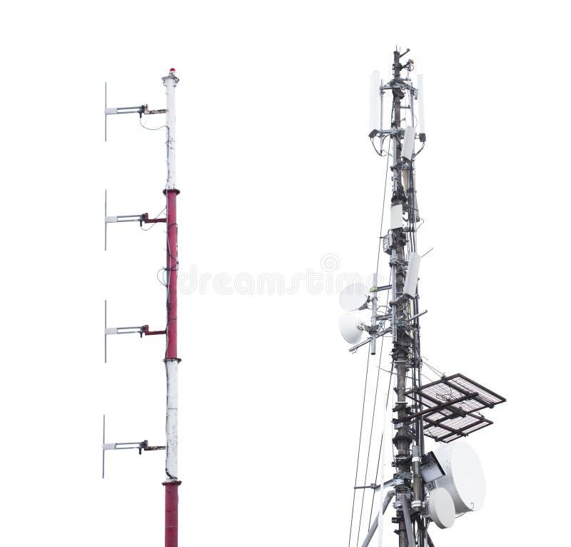 Antennetoren voor signaalontvangst royalty-vrije stock foto's