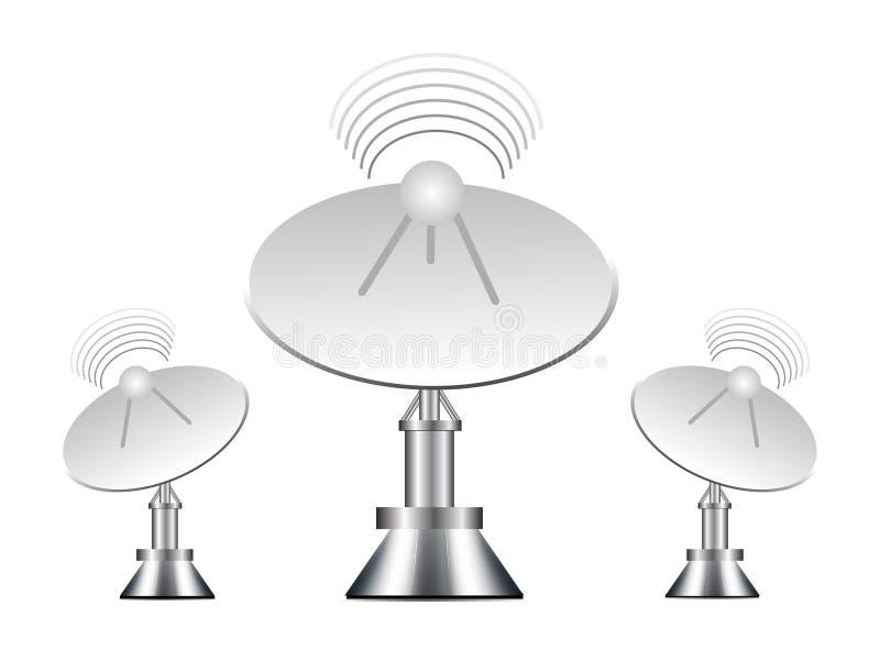 antennillustrationvektor royaltyfri illustrationer