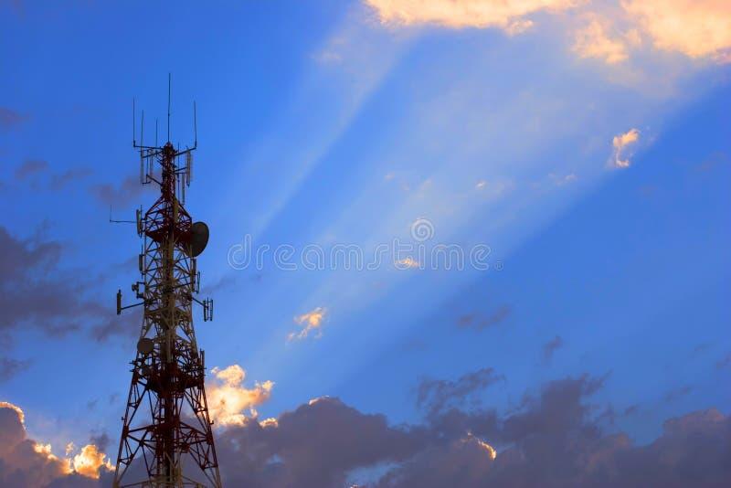 antennkommunikation royaltyfria bilder