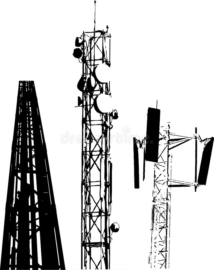 antennkommunikationer stock illustrationer