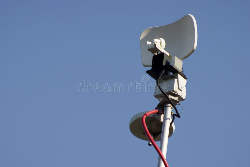 antennmikrovågnyheterna royaltyfria foton