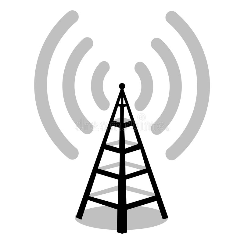 antennradio royaltyfri illustrationer
