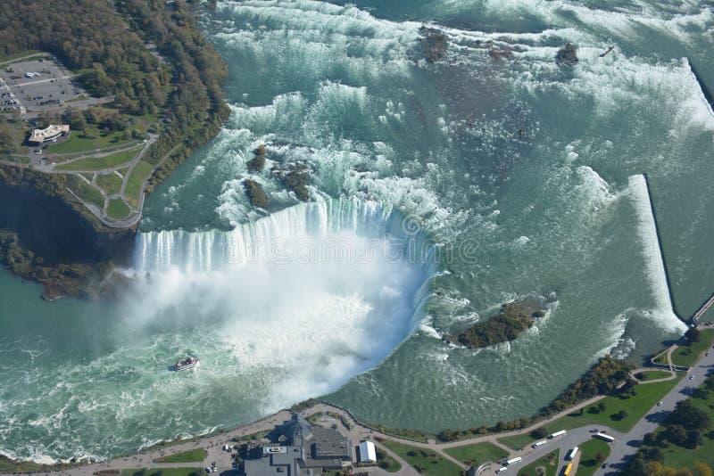 Antennskott av hästskofalls- Niagara Falls Ontario royaltyfria foton