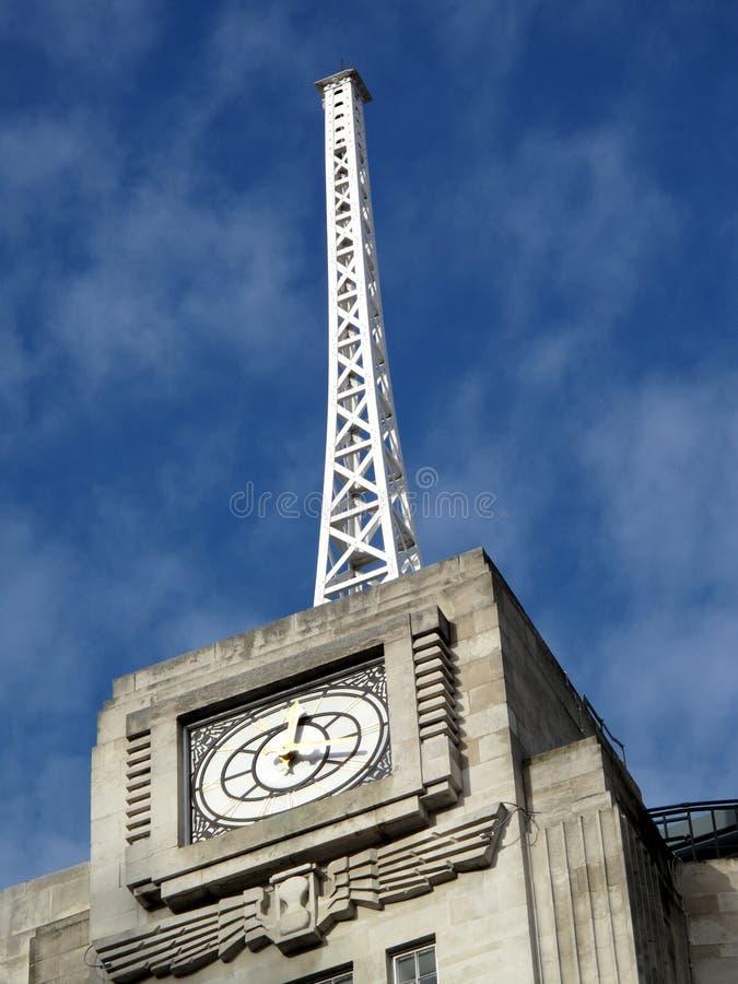 anteny bbc transmitowania dom fotografia stock