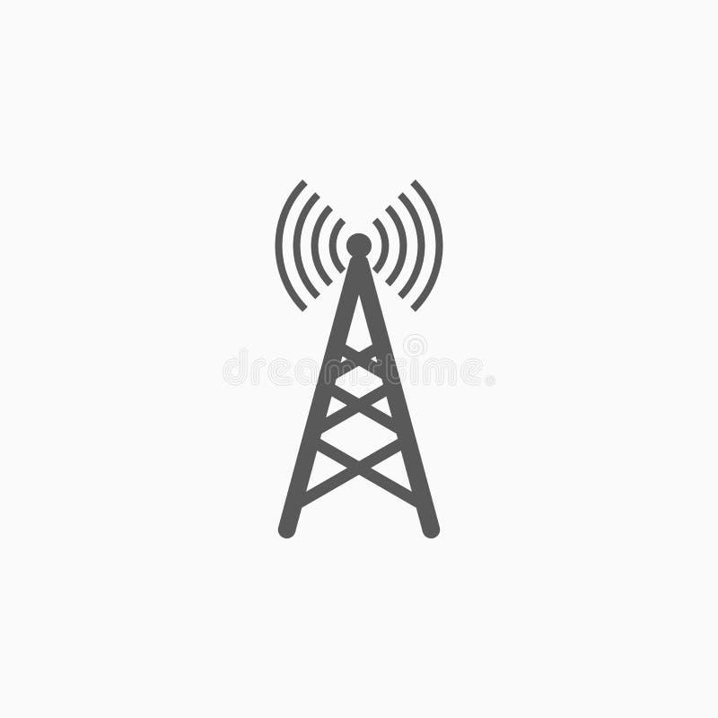 Anteny ikona, sieć, internet, WiFi royalty ilustracja