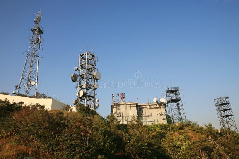 anteny komunikacyjny wierza zdjęcia stock