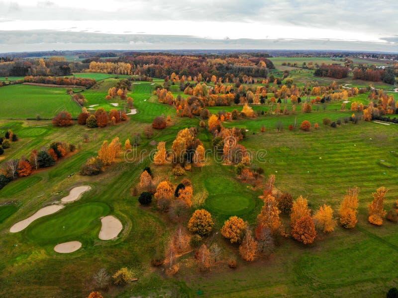 anteny kursu golfa widok fotografia royalty free